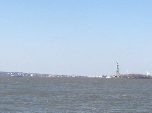 Lady Liberty from across the bay in Battery Park