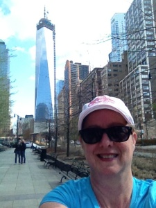 Happy runner at 9/11 Memorial